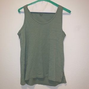 Green Madewell Cotton Tank with Pocket